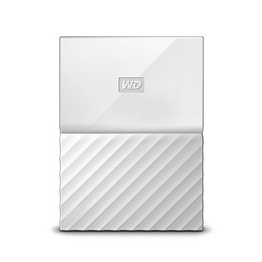 WD My Passport 2 TB Portable Hard Drive, White (WDBYFT0020BWT-WESN)