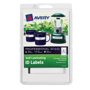"Avery Self Laminating ID Labels 00747, Handwrite, 2/3"" x 3 3/8"", Gray Border, Pack of 24"
