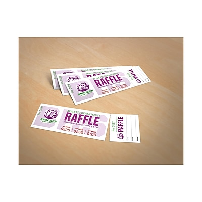 graphic about Printable Tickets With Tear Away Stubs referred to as Avery® Printable Tickets with Tear-Absent Stubs, Matte White, 200/Pack (AVE16154)