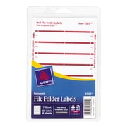 Avery® 5201 Print-or-Write Dark Red File Folder Labels, 252/Pack