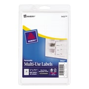 """Avery® 5422 Print-or-Write Multiuse ID Labels, 1/2""""H x 1-3/4""""L, 840/Pack"""