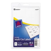 "Avery® 5428 Print-or-Write Multiuse ID Labels, 3/4""H x 1""L, 1,000/Pack"