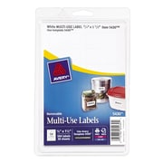"Avery® 5430 Print-or-Write Multiuse ID Labels, 3/4""H x 1-1/2""L, 500/Pack"