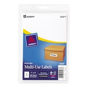 "Avery® 5436 Print-or-Write Multiuse ID Labels, 1""H x 3""L, 250/Pack"