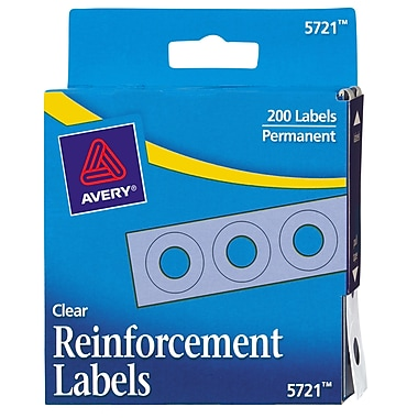 Avery® Reinforcements for Hole-Punched Pages, Clear, 200/Pack