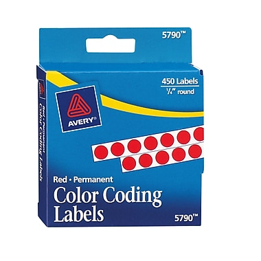 avery 5790 round 14 - Avery Colored Labels