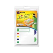 Avery® Self-Laminating Labels for Kids Gear, Primary Colors, Assorted Shapes and Sizes