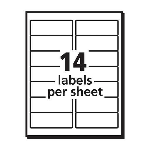 Avery 1 13 X 4 5162 Laser Address Labels With Easy Peel White