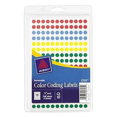 avery 5795 round 14 - Avery Colored Labels
