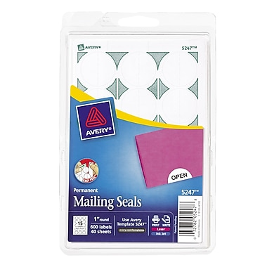 Avery® Print-or-Write Mailing Seals 1