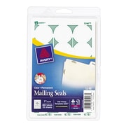 """Avery® 5248 Print-or-Write Clear Mailing Seals, 1"""" Diameter, 480/Pack (13929/5248)"""