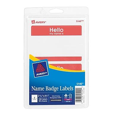 Avery® Print-or-Write Name Tags,