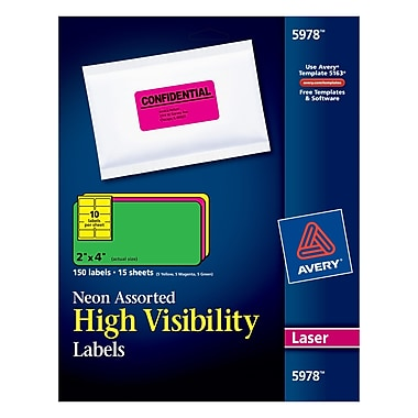 avery 2 - Avery Colored Labels