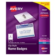 "Avery Top Loading Clip Style Name Tags, 3"" x 4"", 100/Pack"