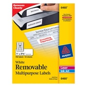 "Avery® 6460 Removable Inkjet/Laser Labels, 1"" x 2-5/8"", 750/Pack"
