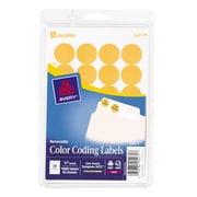 "Avery® 5471 Round 3/4"" Diameter Print & Write Color Coding Labels, Orange Neon"