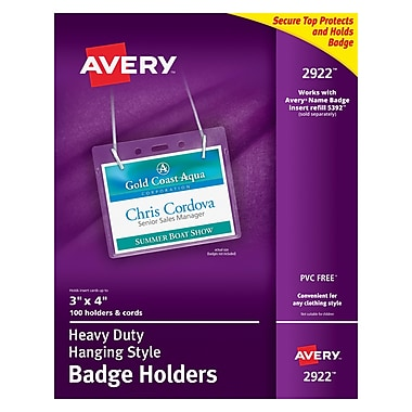 Avery® Badge Holders, 3