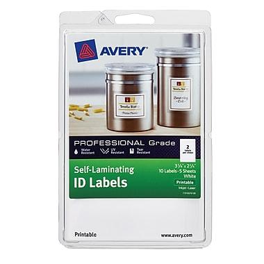 Avery Self-Laminating ID Labels 00761, Printable, 3 1/4