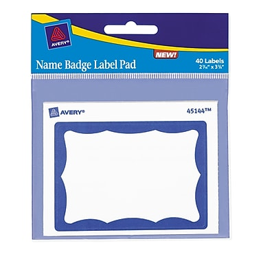 Avery® Name Tag Label Pads, 2-7/16