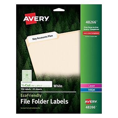 Avery® 48266 EcoFriendly White Multipurpose File Folder Labels, 750/Box