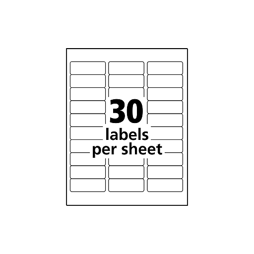 Avery 1 X 2 58 Clear Inkjet Address Labels With Easy Peel 300