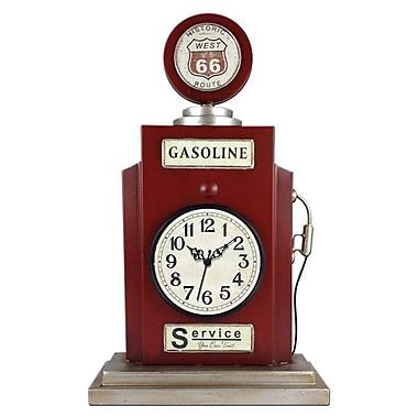 Ashton Sutton Quartz Analog Gas Pump Shaped Table Clock with Metal Case (MZBG019)