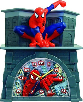 Ashton Sutton Spiderman Quartz Analog Bank Alarm Clock (MZBG024) 2393050
