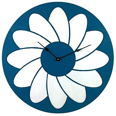 Cray Cray Supply Blue and White Flower Clock Large (CRYC068)