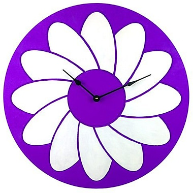 Cray Cray Supply Purple and White Flower Clock Large (CRYC070)