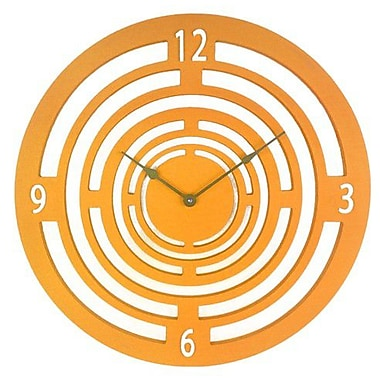 Cray Cray Supply Orange Semi-Circle Clock Large (CRYC082)