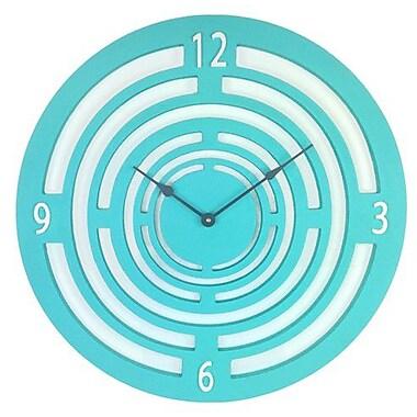 Cray Cray Supply Teal Semi-Circle Clock Large (CRYC085)