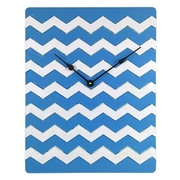 Cray Cray Supply Weathered Blue & White Chevron Pattern Clock Large (CRYC100)