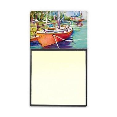 Carolines Treasures Red Sailboat Sticky Note Holder (CRLT69048)