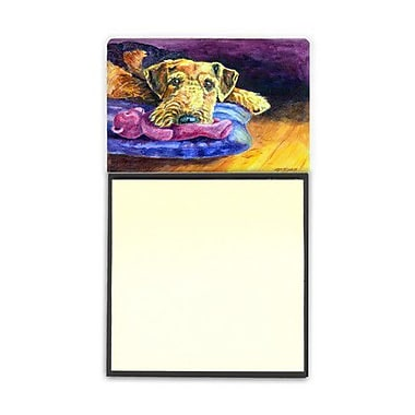 Carolines Treasures Airedale Terrier Teddy Bear Sticky Note Holder (CRLT80560)