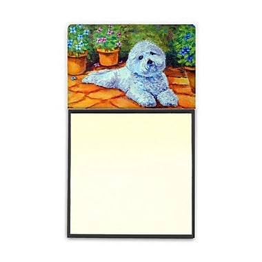 Carolines Treasures Bichon Frise On The Patio Sticky Note Holder (CRLT80561)