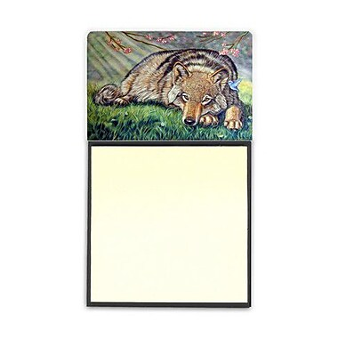 Carolines Treasures Wolf And Hummingbird Sticky Note Holder (CRLT80571)