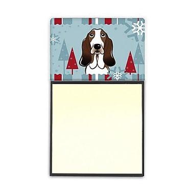 Carolines Treasures Winter Holiday Basset Hound Sticky Note Holder (CRLT84551)
