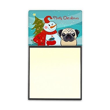 Carolines Treasures Snowman With Fawn Pug Sticky Note Holder (CRLT86630)