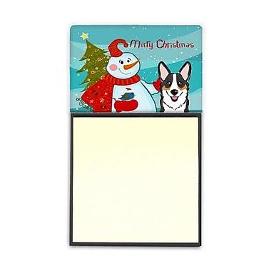 Carolines Treasures Snowman With Tricolor Corgi Sticky Note Holder (CRLT86695)
