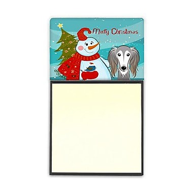 Carolines Treasures Snowman With Saluki Sticky Note Holder (CRLT86773)