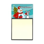 Carolines Treasures  Snowman With Italian Greyhound Sticky Note Holder (CRLT86904)