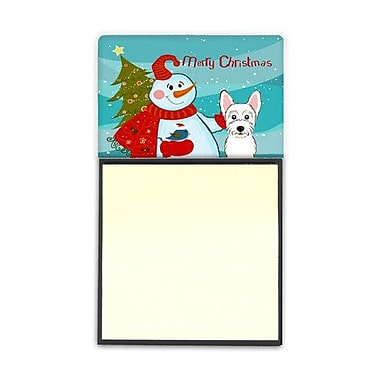 Carolines Treasures Snowman With Westie Sticky Note Holder (CRLT87010)