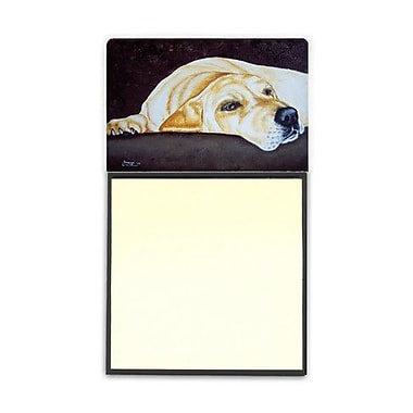 Carolines Treasures Naptime Yellow Labrador Sticky Note Holder (CRLT87697)
