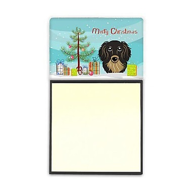 Carolines Treasures Christmas Tree & Longhair Black & Tan Dachshund Sticky Note Holder (CRLT89510)