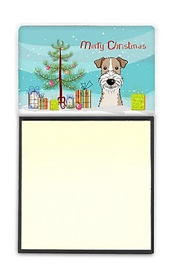Carolines Treasures Christmas Tree & Wire Haired Fox Terrier Sticky Note Holder (CRLT89787) 2394260