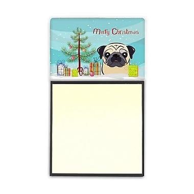 Carolines Treasures Christmas Tree & Fawn Pug Sticky Note Holder (CRLT89947)