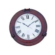 Handcrafted Decor  Antique Copper Decorative Ship Porthole Clock, 24 in. (HDFM3311)