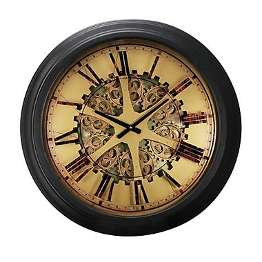 A&B Home 26 x 3 in. Classic Gears Wall Clock, Black (ABHM220)
