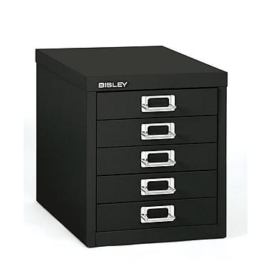 Bisley – Multidrawer en acier 5 tiroirs, noir, lettre/A4 (MD5-BK)