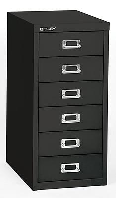 Bisley Six Drawer Steel Multidrawer, Black, Letter/A4 (MD6-BK)